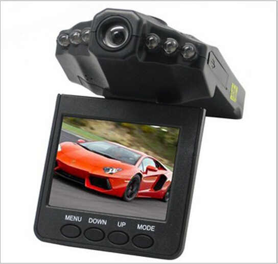 Free Shipping 90 Degree 6 LED Night Vision 2 5 inch Screen Car Vehical DVR