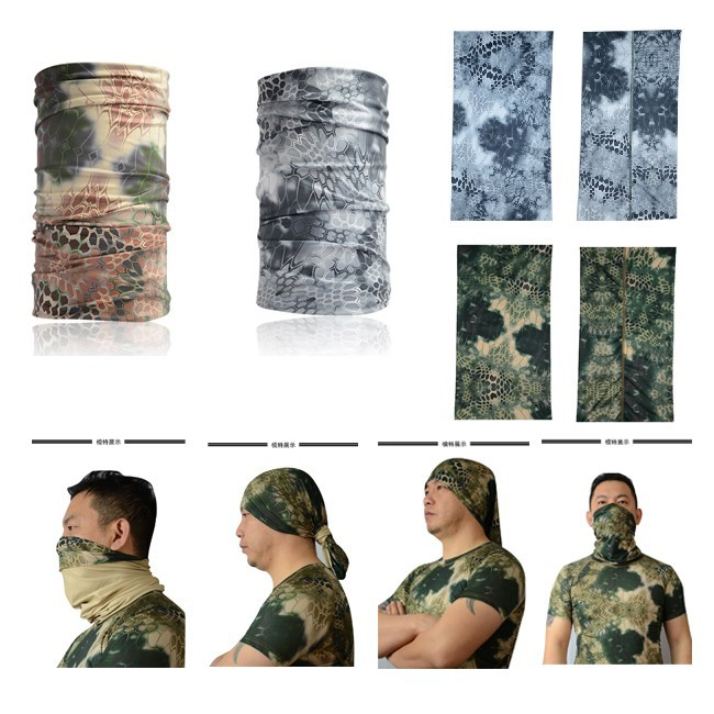 Kryptek Neck Warmer/ Mountain seamless scarf/ Riding Hiking Sports scarves/ Outddoor camo scarves