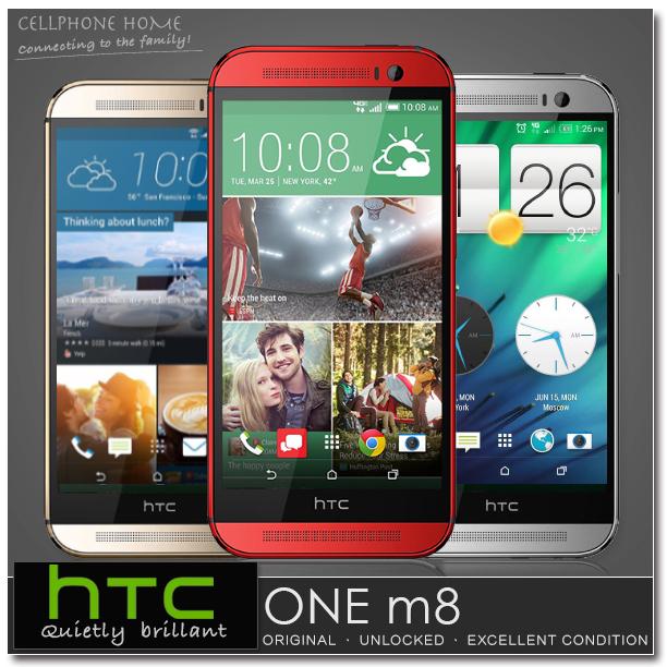 "M8 Original HTC ONE M8 Unlocked SmartPhone 16GB 32GB Quad-Core 5.0"" 1920x1080p 3G WIFI NFC Dual 5MP Android 4.4 Mobile Phone(China (Mainland))"