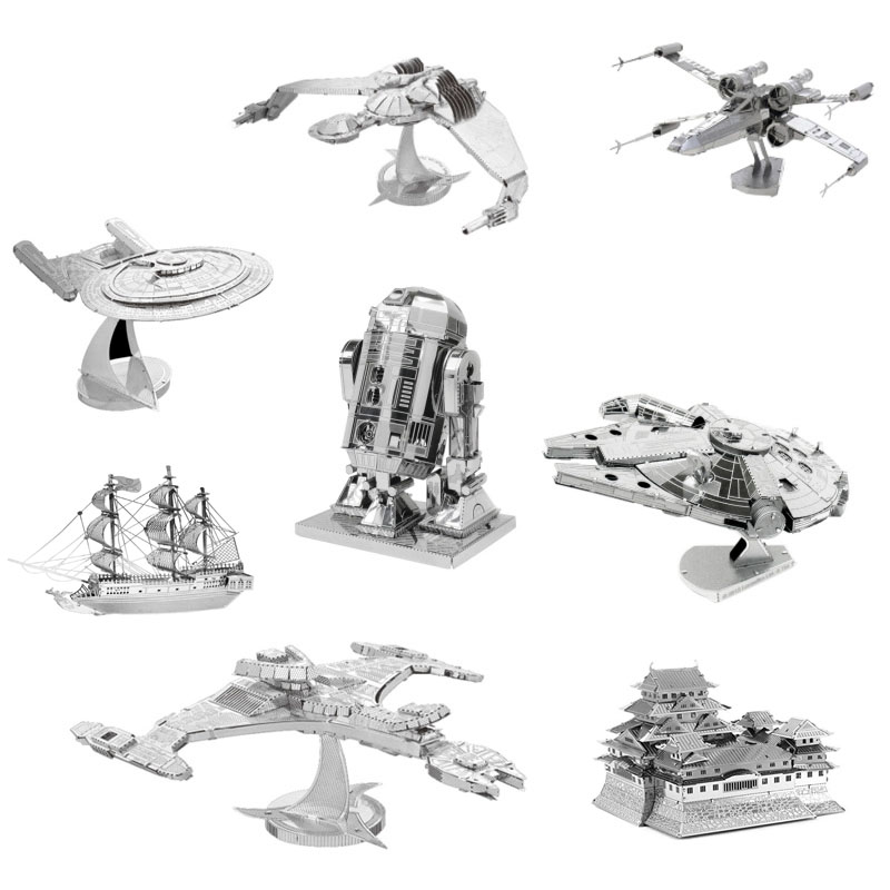 3D Jigsaw Puzzles for Kids Star Wars 3D Nano Metal DIY scale Model Building Architecture educational toy for toddlers CX679175(China (Mainland))