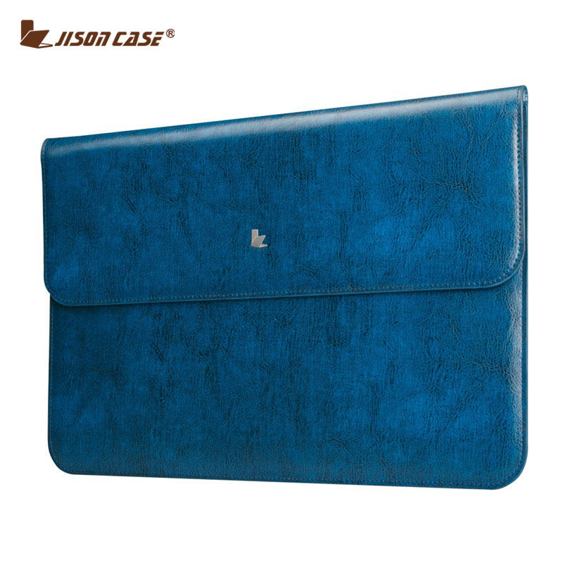 jisoncase genuine leather sleeve cover for macbook