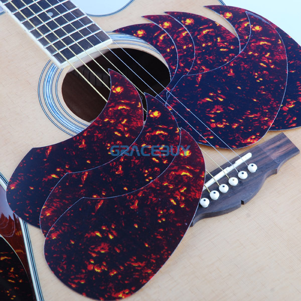 """Alice Acoustic Guitar Pickguard 40"""" 41"""" 42"""" R64mm Red Color Plastic Professional Pick Guard Sticker(China (Mainland))"""
