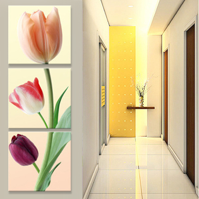 art Flowers Corridor canvas oil painting living room pictures on the wall Modular pictures Print cuadros decoracion(no frame)(China (Mainland))