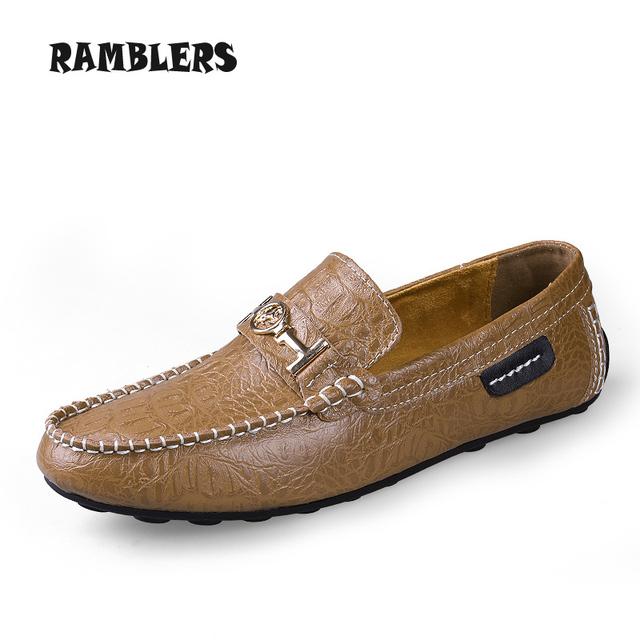 Мужчины в мокасины роскошь натуральная кожа квартиры обувь для мужчины скольжение ...