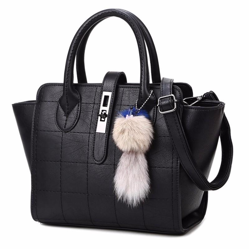 Trendy Plaid Large Bag Korean Style Fashionable Women Shoulder Bag Classic Thread Ladies Classy Handbag Crossbody Bag