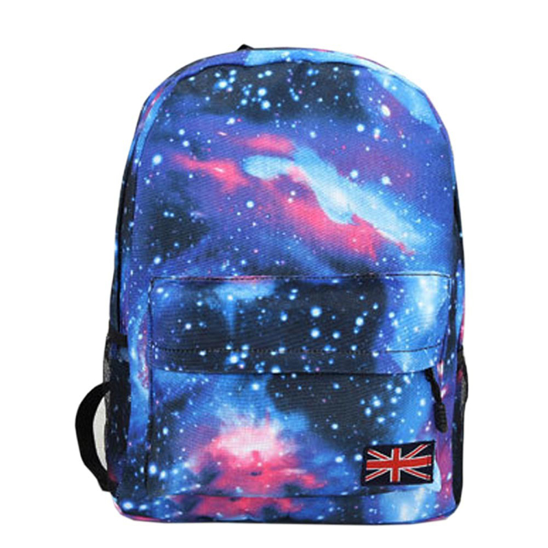 New 2016 Fashion Backpack Woman's Schools Bag Unisex Stars Universe Space Printing Canvas Female Backpacks Print(China (Mainland))