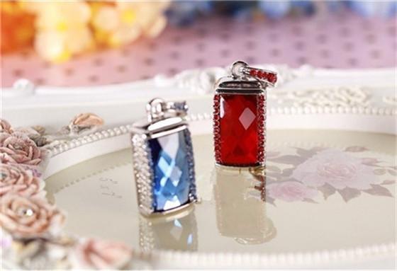 Hot selling mini fashion crystal necklace usb 4GB 8GB 16GB 32GB 64GB USB Flash 2.0 Memory Drive Stick Pen/ThumbCar S107(China (Mainland))