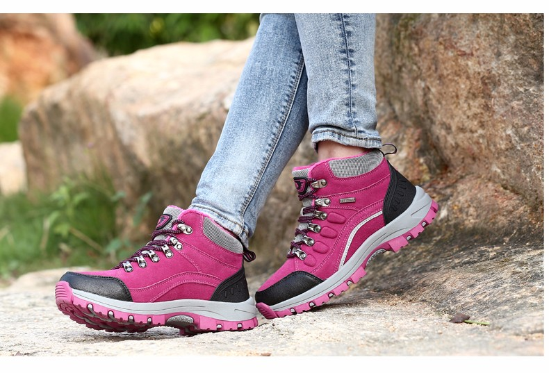 2017 Boots Winter Women Ankle Boot Female Waterproof Shoe Rubber Sole Warm Ankle Boots For Women Casual Short Plush botas mujer
