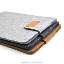 Dark Gray Color New Woolen Felt Laptop Sleeve Bag Cover Case For Laptop Samsung Sony HP