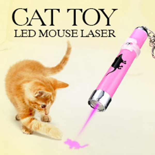 Гаджет  Creative and Funny Pet Cat Toys LED Laser Pointer light Pen With Bright Animation Mouse None Дом и Сад