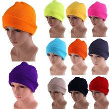 Free Shipping Men's Women Beanie Knit Ski Cap Hip-Hop Color Winter Warm Unisex Wool Hat ME3L