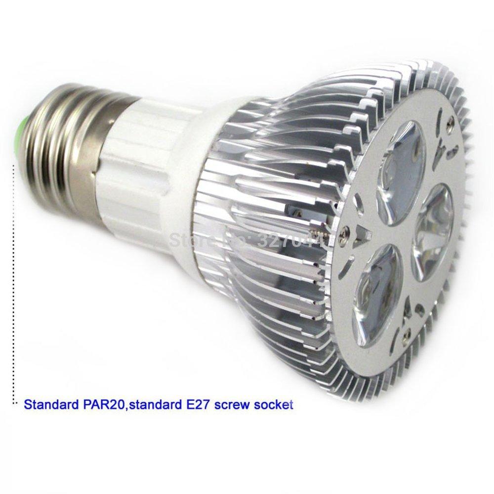 High power CREE Diammable Par 20 Led Lamp 9W E27 AC110-245 Led spot Light Spotlight led bulb Par20 LED lights downlight lighting(China (Mainland))