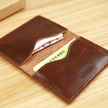 LAN genuine men's  slim card case leather credit card case small bank card case
