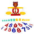 1Set Cute Bear Balance Brain Development Toy Baby Kids Early Educational Balancing Digital Numbers Learning Math