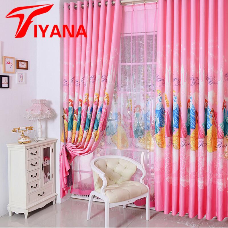 diseo coreano de color rosa sueo princesa cortinas de dibujos animados para los nios nias dormitorio