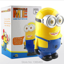 Despicable Me Minion 2 de Dave acción Talking figura interactivo 3D Eyes Figurines muñecas mascota electrónica Brinquedos juguetes divertidos(China (Mainland))