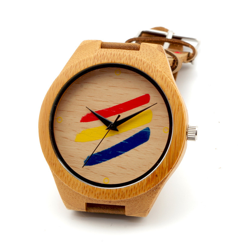 Men Watches Casual Wooden Leather Strap Watch Wood Male Wristwatch Relojes Relogio Masculino saat - ShenZhen GlobalPower Industry Co., LTD. store