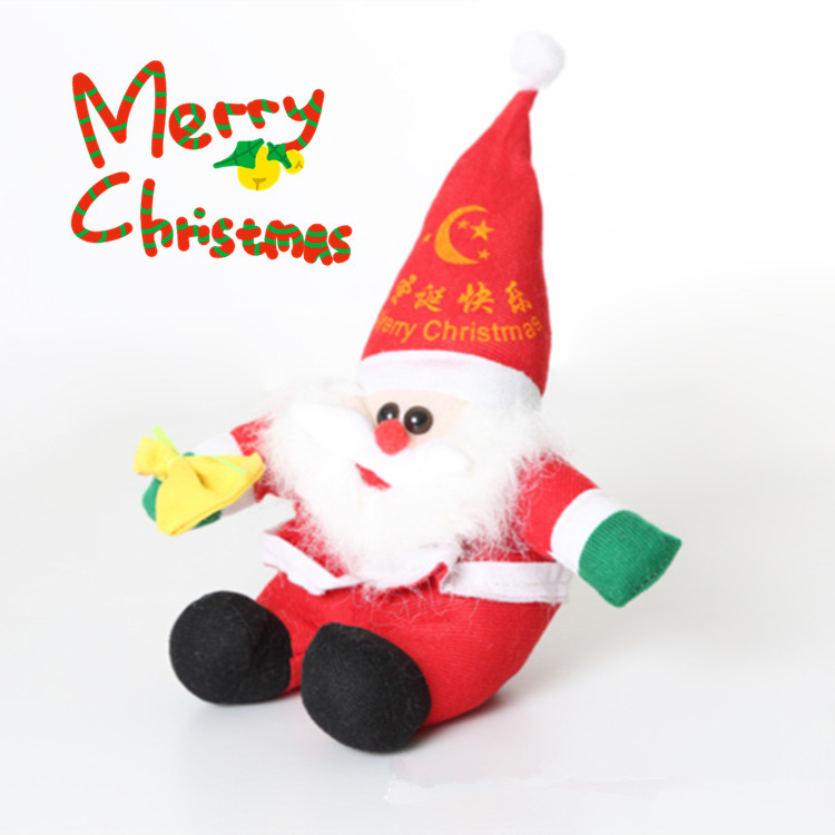 New 2015 Lovely Talking Sound Recording Electronic Santa Claus 16 Seconds Repeat Recording Plush Toy Kids Gift(China (Mainland))