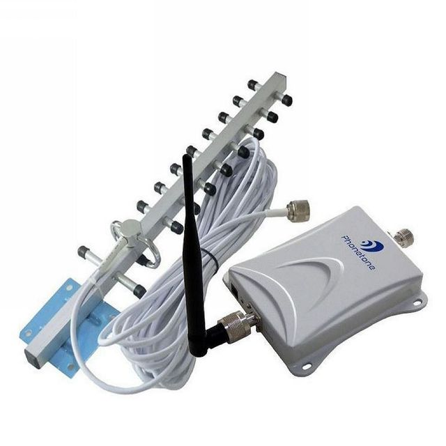 70dB 1000 sSquare Meter Work  2100Mhz 3G WCDMA Repeater UMTS Signal Booster 12dbi Yagi Antenna