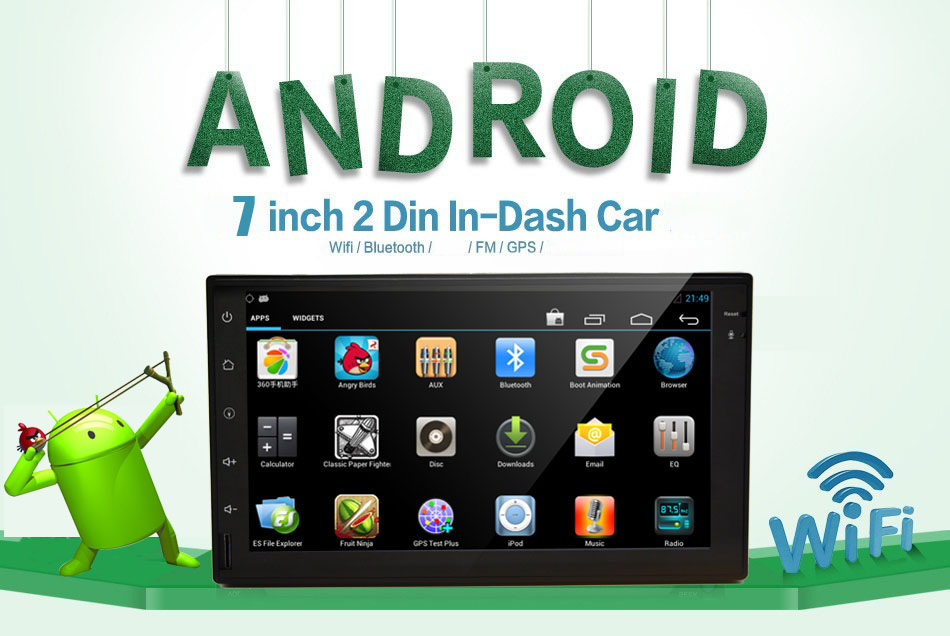 7 inch Android Car Audio GPS Navigation 2 Din in dash Car Stereo Radio Universal Car Video Player Support Wifi+bluetooth+AM/FM(China (Mainland))