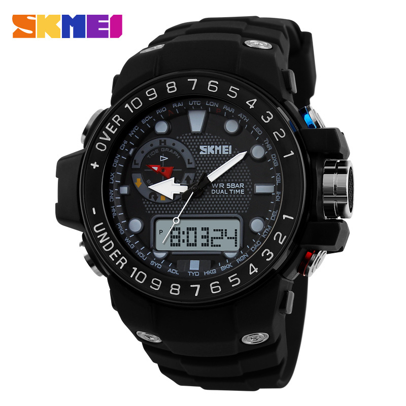 Sports Watches Men Luxury Brand Outdoor Waterproof Fashion Casual Quartz Watch Digital & Analog Military Oversized Men's - Skmei china watch Store store