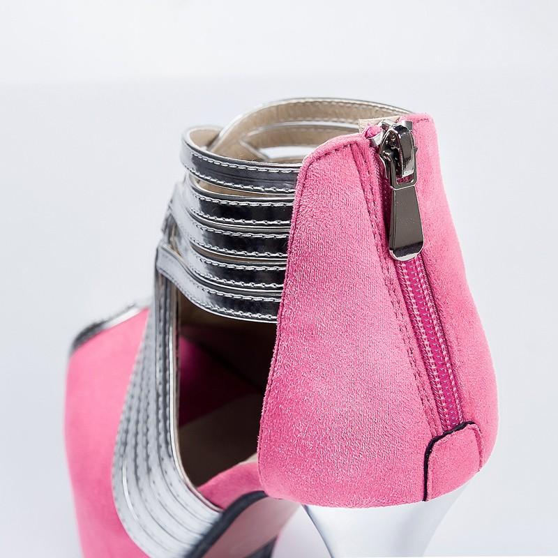 Patchwork Wedding Bridal Party Clubwear Shoes Women Peep Toe Weave Ankle Strap Boots Summer Platform Ultra High Heel Fetish Shoe