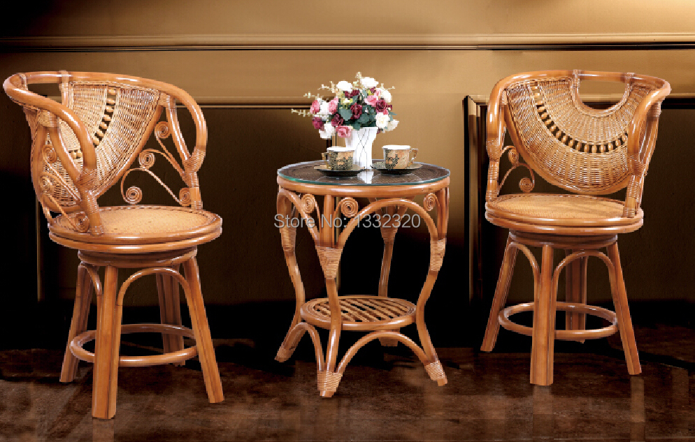 Rattan Furniture Dining Room Combination Dining Table Tea Table Coffee