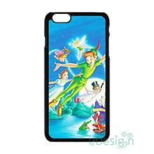 Fit for iPhone 4 4s 5 5s 5c se 6 6s 7 plus ipod touch 4/5/6 back skins cellphone case cover Peter Pan Happy Together Cute