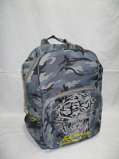 Ed hardy bags ed hardy backpack ed school bag canvas Camouflage steller's(China (Mainland))