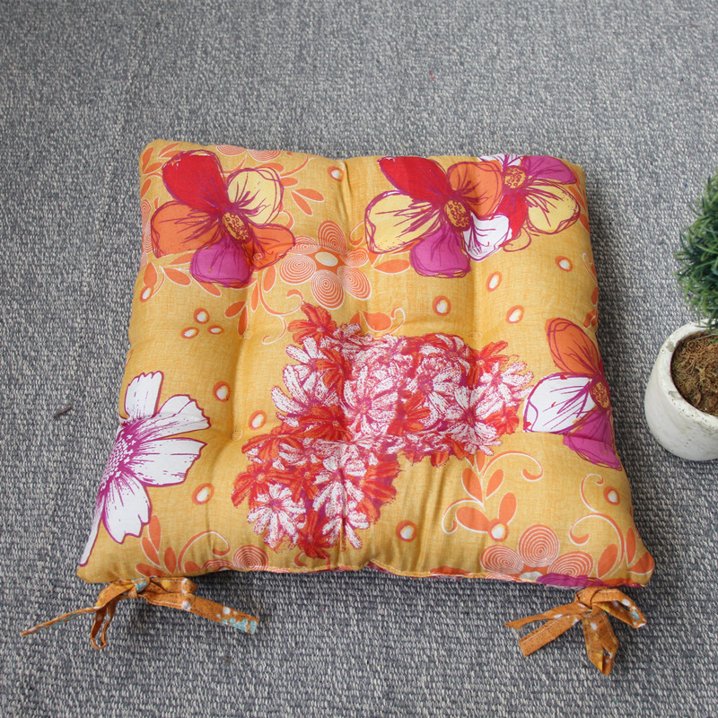 2016 Fashion Flower Printed Home Decor Office Seat Chair Cushions Poly-cotton Car Sofa Seat Pad Cushions With Ties Hot Sell(China (Mainland))
