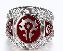 1pc!!  Newest Fashion World of Warcraft Ring 316L Stainless Steel Jewelry Top Quality Hot Selling WOW Ring(China (Mainland))