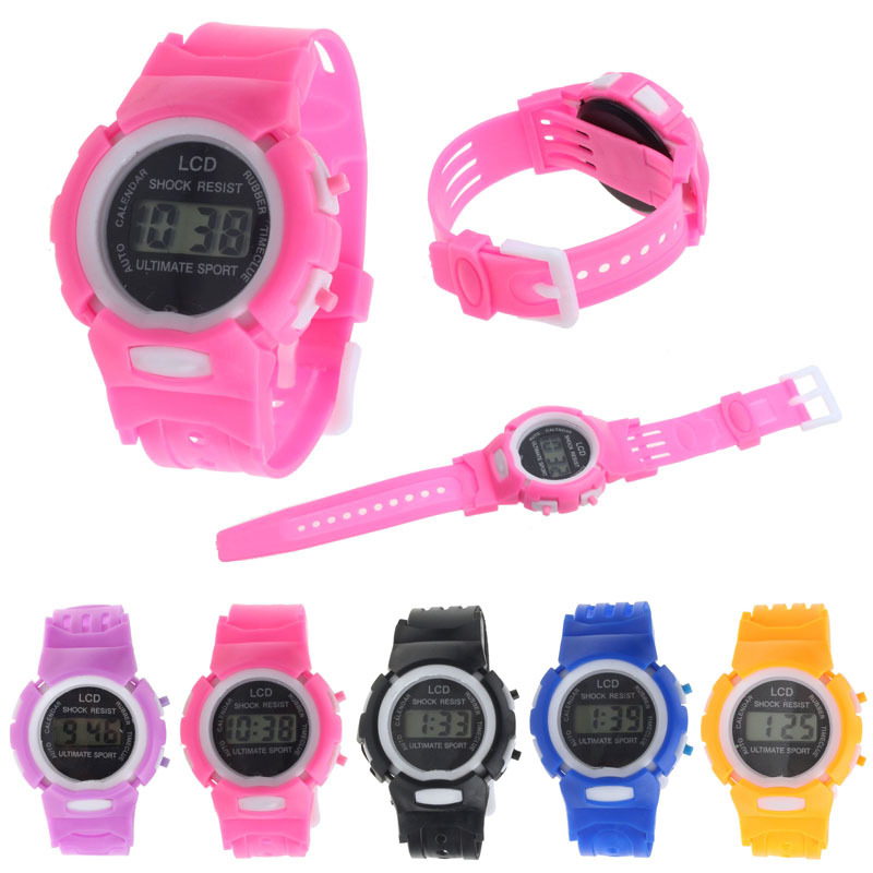 2015 Free Shipping! Kids Student Time Clock Electronic Digital Watch LCD Display Teenager Wristwatch Gifts for Your Girls Boys <br><br>Aliexpress