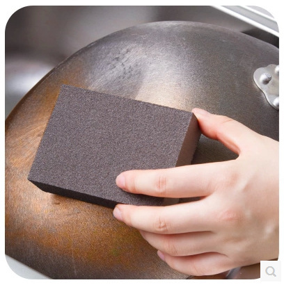 Kitchen Magic wipe clean Nano-diamond cleaning pot Deferrization Coke stains sand sponge 20g(China (Mainland))