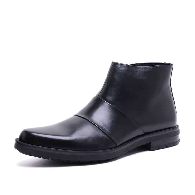 GRIMENTIN Fashion UK unique mens ankle boots genuine leather black brown forormal shoes for wedding business party 295(China (Mainland))