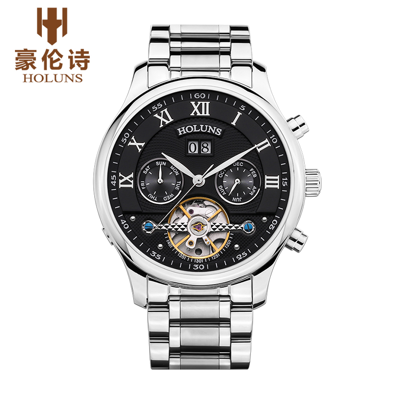HOLUNS YG004 Watch Geneva Brand Quality men waterproof hollow Tourbillon watches mechanical automatic business relogio masculino<br>