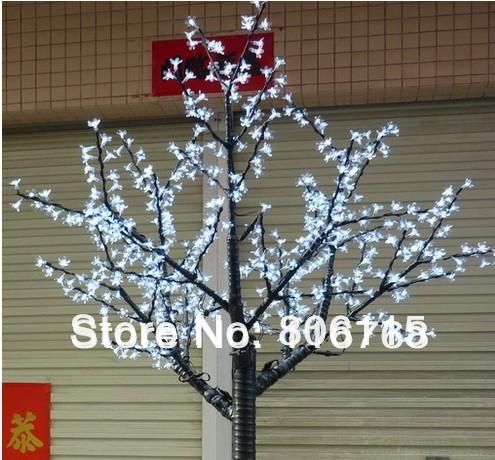 Hot selling 2M high 648pcs LED cherry tree lights landscape lights led christmas tree free shipping(China (Mainland))