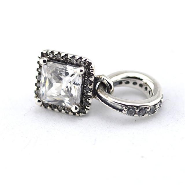 925 - серебристо-ювелирные CZ камни элегантность бусины Fit пандора неповторимое очарование браслеты серебро 925 ювелирных изделий DIY поиск