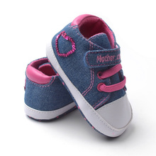 Baby Girl Denim Sneakers Toddlers Cute First Walkers New Fashion Soft Sole Non-slip Baby Shoes Drop Free Shipping Wholesale(China (Mainland))