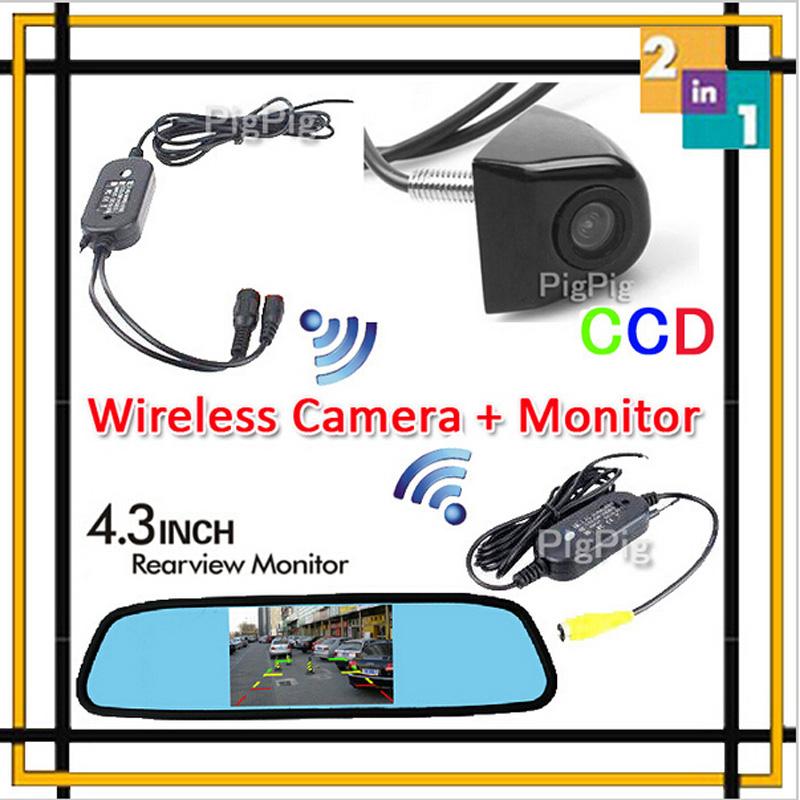 HD Video Auto 4.3 Inch LCD Car Rearview Mirror Monitor Display + 170 Degree CCD Backup Reversing Rear View Camera Parking Assist(China (Mainland))
