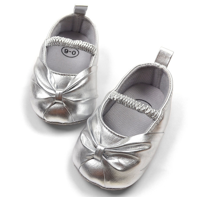 Formal dress baby shoes for girl silver toddler soft outsole cotton-made soft sole shoes,baby girl shoes(China (Mainland))