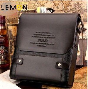 Lemon flavor new 2015 two pattern men messenger bags PU leather laptop cross men business bag Fashion men travel bags LJ0005(China (Mainland))