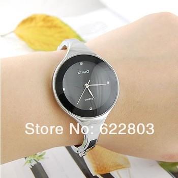fashion Brand Kimio Ladies women dress watches Luxury Bracelet wrist watches with fine steel strap Free shipping 10Pcs/Lot