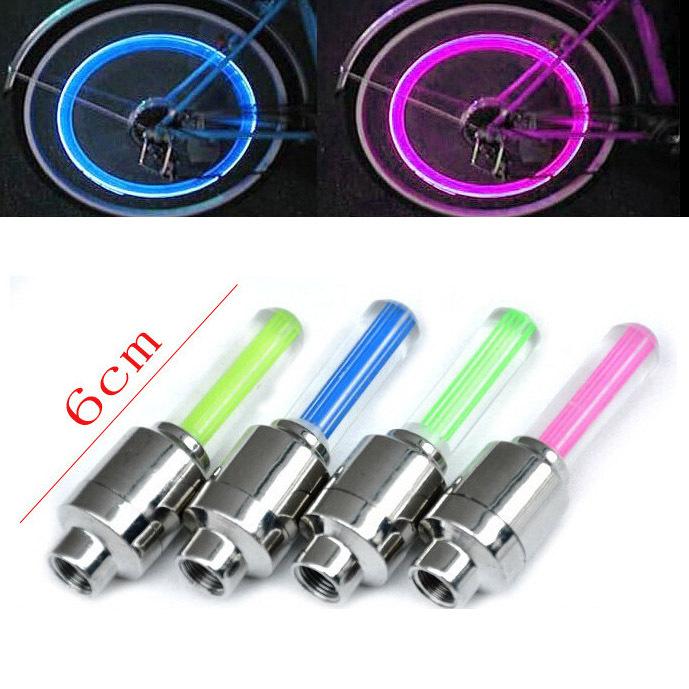 Bicycle Mountain bike wheel spokes Valve cap Neon LED Lighting Light Accessories(China (Mainland))