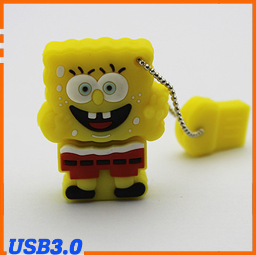 100% Genuine USB Flash Drive cartoon animal spongebob memory stick cute pen drive 4GB 8GB 16GB 32GB 64GB pendrive Free shipping(China (Mainland))
