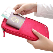 5 colours fashion Travel set nylon man brand ID passport holder credit card organizer bag women long travel wallet(China (Mainland))