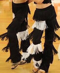 DB23543 fringe dance pants-2