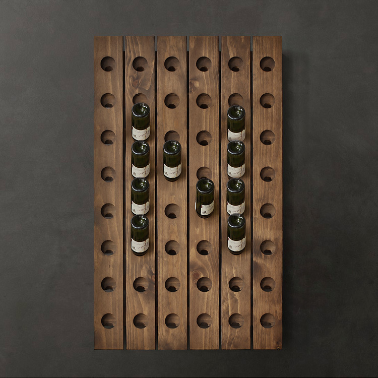 10% off Thanksgiving / Nordic expression / Nordic Classic / American country / Billund walnut color wood wall wine rack(China (Mainland))