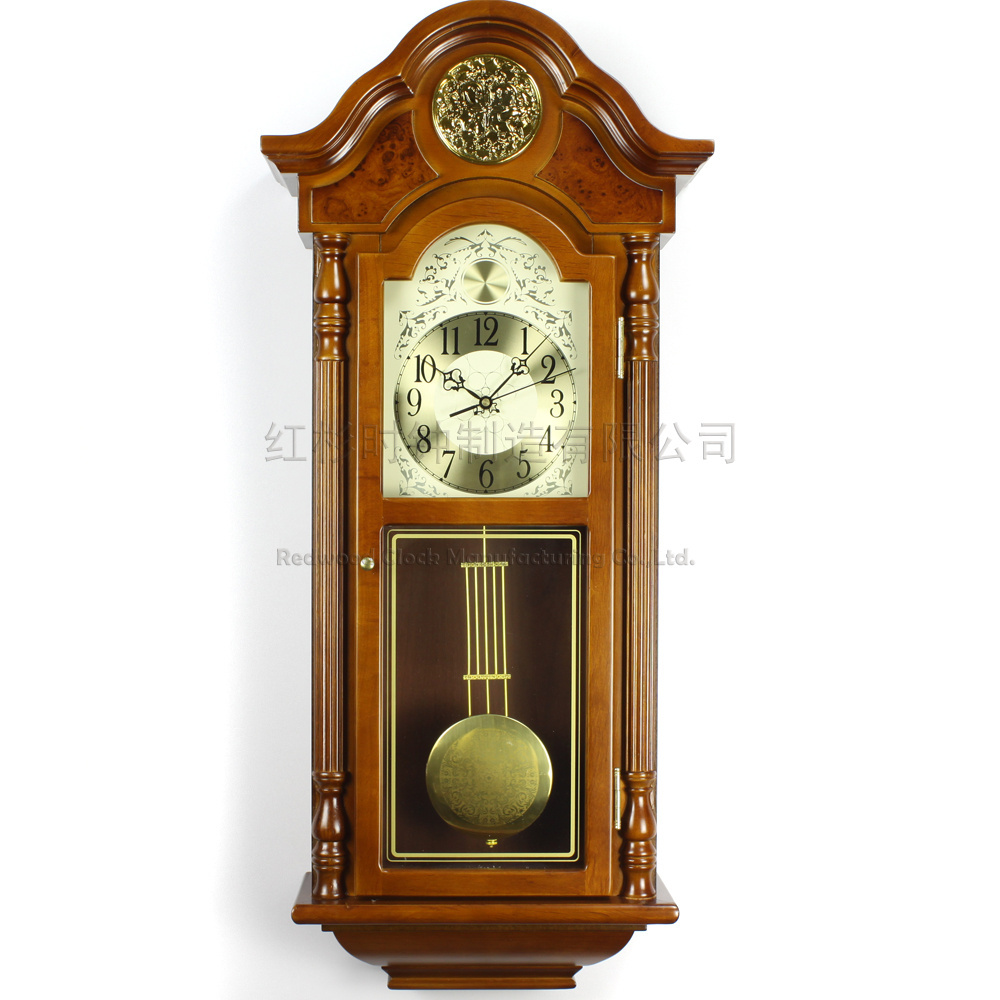 Buy luxury home living room wood wall clock pendulum clocks classical fashion antique rq505 t - Stylish pendulum wall clock ...