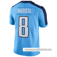 Adult Marcus Mariota #8 Jersey Men's Murray Light Blue Color Rush Limited DeMarco Jersey 100% Stitched Free Shipping(China (Mainland))