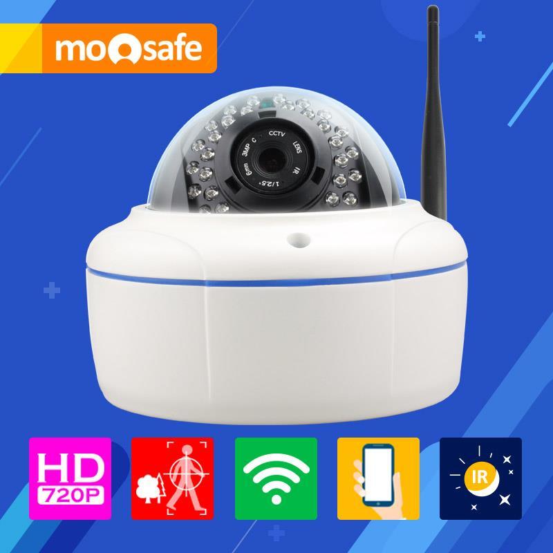 Mosafe 1.0M Wifi Dome Camera 1280*720P 30 pcs IR LED auto switch to night vision P2P remote control Onvif CCTV Cameras(China (Mainland))